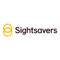 SightSavers logo white background